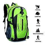 Gshopper Zaino da Trekking 40L Zaini da Escursionismo Leggero Impermeabile per Viaggi in Montagna Arrampicata in Campeggio Green