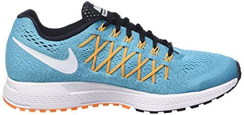 Nike - Wmns Air Zoom Pegasus 32, Scarpe da ginnastica Donna Blu (Gmm Bl/White/Lsr Orng/Vvd Orng)