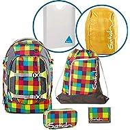 Satch Sac à dos d'écolier Set de 6Pièces Pack Beach Leach 2.0901Carreaux multicolores