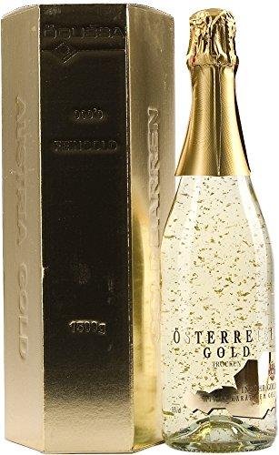Austria Gold ó Österreich Gold, es un espumoso elaborado con el método Champenoise que nos recuerda los champanes franceses. Contiene copos de oro de 23 Klt aptos perfectamente para el consumo. Incluye un expectacular estuche con forma de lingote.