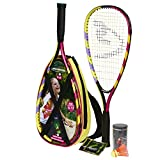 Speedminton 400043 Set de 2 Raquettes Multicolore Jaune/Rouge
