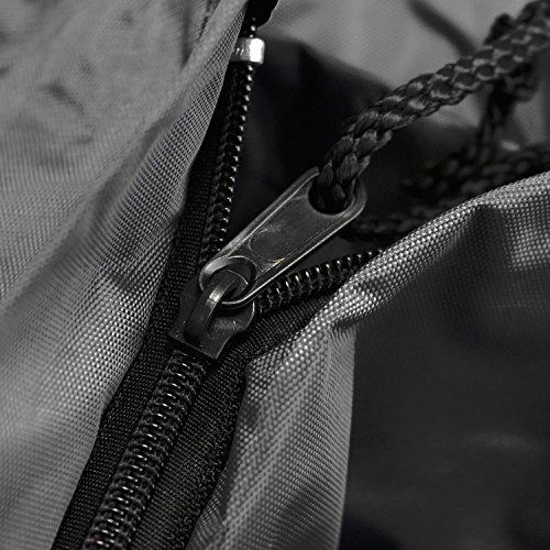 Outfit–Abdeckplane für die Deckung der Fall der Abdeckung Teller POR ein Heizung von Patio Heizung Heizung-Patio Ø85x 230cm Schutz gegen die Regen Schwarz - 4