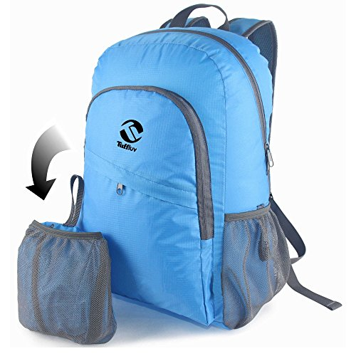 tuff-luv-feather-light-water-resistant-foldable-sport-go-easy-travel-backpack-blue