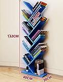 Bücherregale WSSF- Baum Einfache Boden Kinder Indoor Wohnzimmer Schlafzimmer Wirtschaftliche Lagerung Finishing Multilayer Holz Partition (Farbe Optional, 40 * 20 * 132 cm)