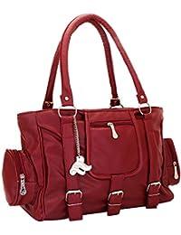 Lady Bar Womens Handbag ( Maroon Bag)