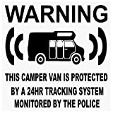 6 X Camper Van camping-car GPS – Système de Black-tracking Device Unit – factice Alarme avertissement Window Stickers – Police surveiller en vinyle signer