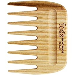 Peine afro de madera natural