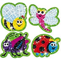 38 x Insect, Bugs Sparkle Stickers for Kids