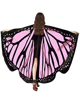 Auspicious beginning Accesorios del traje de la ninfa de hadas del chal de las alas de la mariposa de las mujeres