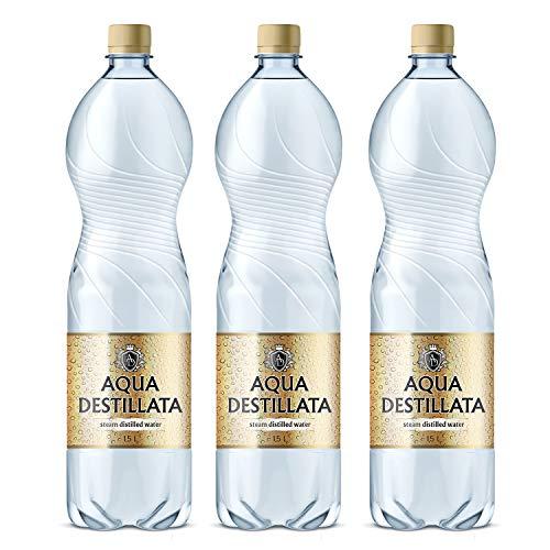 Bottiglie di acqua distillata 4.5l (3x 1.5l) 100% puro steam acqua distillata/grado medico/food grade/tds 000ppm/bpa free