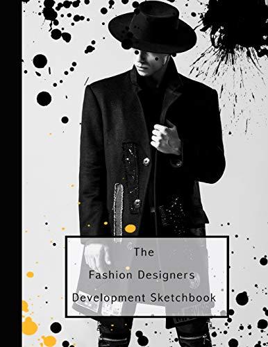 The fashion designers development sketchbook: Fashion design journal for the fashion designer - Male fashion Icon in ripped jeans (Kostüme Teen Diy Girl)