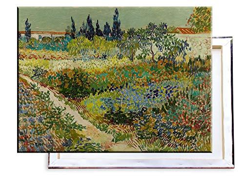 Unified Distribution Vincent Van Gogh - Garten in Arles - Klassisches Gemälde - Replik auf Leinwand 80x60 cm -