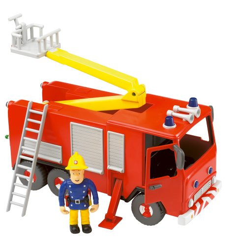 Fireman Sam - Friction Fire Engine with Sam Figure