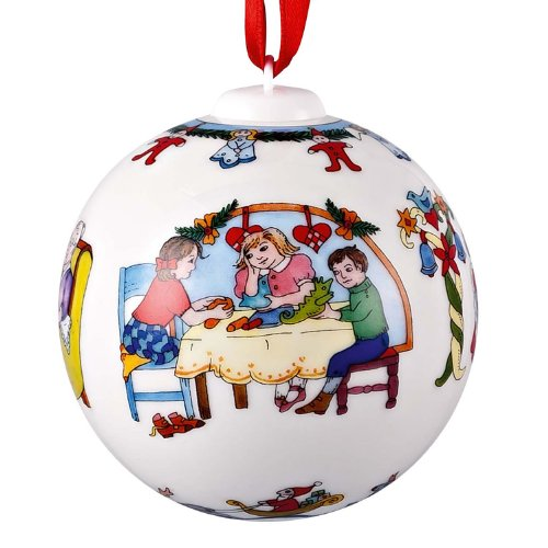 Hutschenreuther Porzellankugel Weihnachtsbastelei Weihnachten 2012
