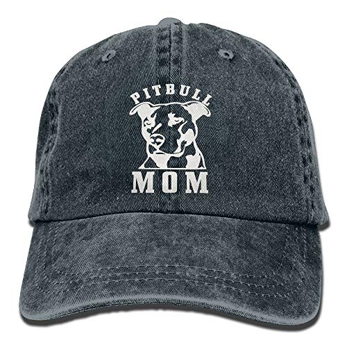 linranshangmao Stolz Pitbull Mom Hipster Unisex Denim Jeans verstellbare Baseball Mütze Hip Hop Cap Geschenk für Männer Frauen (Pitbull Stolz)
