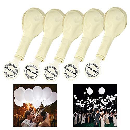 Xrten 25 Pcs Globos Led Blancos luz para Decoración Fiesta Cumpleaños, Boda, Navidad ect