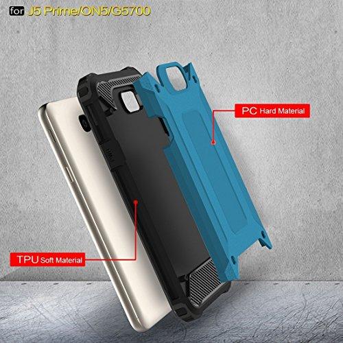 Samsung Galaxy J7 Prime Case Tough Armor TPU + PC Kombi Hülle Für Samsung Galaxy J7 Prime by diebelleu ( Color : Red ) Blue