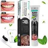 Toothpaste, Transer® Toothpaste 50g Activated Charcoal Teeth Whitening Toothpaste Natural Black Mint Flavor Herbal Toothpaste