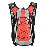 M&M Outdoor-Sport Reiten Wasserbeutel Fahrradtasche Wandern Reisen Wasserbeutel Rucksack Männer und Frauen Rucksack Reiten Tasche,Red