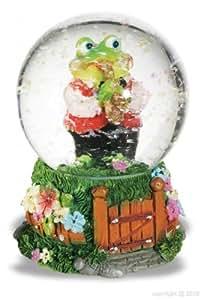 Alxshop - Figurine de dŽcoration en rŽsine + boule de neige : grenouille