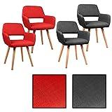 ESTEXO 2/4/6/8x Design - Esszimmerstuhl Tammo, Stühle, Grau, Rot, Stuhl, Esszimmerstühle (6 Stück, Dunkelgrau)