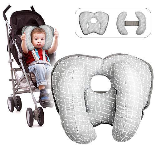 Baby Nackenstützen Kopfstütze Kissen Autositz Kopfstütze Sicherheit Schlafkissen Bananenform Kopf Nackenstütze (2 in 1)