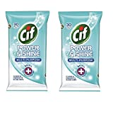 #6: Cif Power & shine Multi- Purpose wipes 30's Pack Of 2