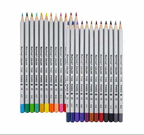 24matite colorate, matite da disegno Set Matite per Schizzi Soft Core, Carta, latta, perfetto per libri da colorare giardino segreto per adulti o bambini regalo (24colori)