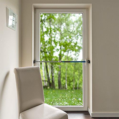 ALLEGRA Sicherungsstange Fenstersicherung Türsicherung Einbruchschutz Fensteralarm (100-175cm)