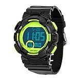 Herren Digitale Armbanduhr, Teenager, modische Sportuhr, Outdoor 50 m wasserdicht, Taucheruhr mit Wecker/Timer/LED-Licht, 7-farbige elektronische Uhr für Jugendliche, Jungen und Kinder