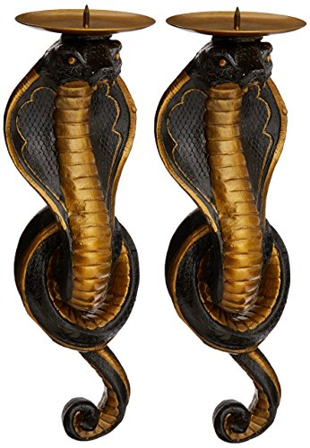 Design Toscano Renenutet, die ägyptische Kobragöttin, Wandleuchter (Von Finish Hand Bemalt, Gold)