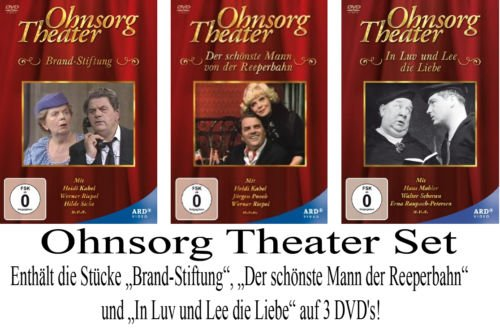 Preisvergleich Produktbild Ohnsorg Theater - die 3 neuen Titel (2013) im Set auf 3 DVDs Brandstiftung / Der schönste Mann von der Reeperbahn / In Luv und Lee die Liebe [3 DVDs]