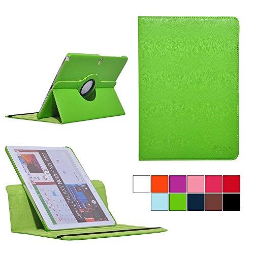 COOVY® Cover für Samsung Galaxy Note PRO 12.2 SM-P900 SM-P901 SM-P905 Rotation 360° Smart Hülle Tasche Etui Case Schutz Ständer | Farbe grün