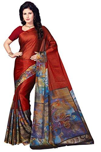 Rani Saahiba Satin Georgette Digital Print Saree ( SKR3774_Red )