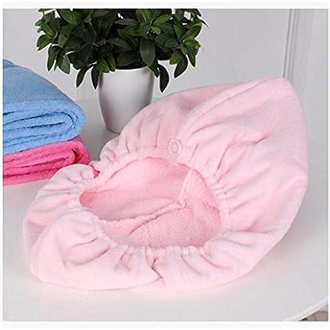 Fast Dry super assorbente i cappucci dei capelli asciugamano asciutto cuffia doccia l'asciugatura dei capelli asciugamano capelli secchi Cap -24*65cm l'aumento tratto peach/capelli sottili - 2 ° Fast Peach