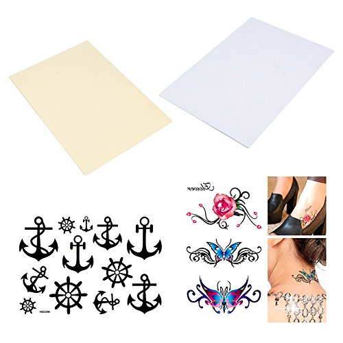 r (10 Pack) DIY A4 temporäre Tattoo Transfer Papier druckbare angepasste Halloween Tattoos (Druckbare Halloween)