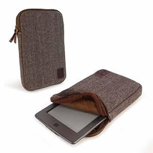 "Tuff-Luv Herringbone Tweedtasche Hülle für 6"" E-Reader Kobo Glo Touch / Kindle paperwhite 6"" E-ink eReaders, Bookeen Cybook Odyssey & Trekstor, Sony Reader, Pocketbook, Nook - braun"