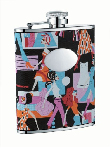 Visol VF1209 Stylista Stainless Steel 6oz Hip Flask