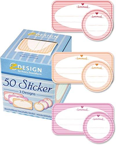 Avery Zweckform 56820-A Sticker auf Rolle Marmelade 50 Aufkleber in Spendebox (stabile Verpackung)