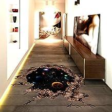 3d pegatinas, hunpta 3d puente suelo pegatinas de pared extraíbles Mural adhesivos vinilo arte salón