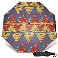Aztec South American Pattern Zig Zag Zigzag Manual Tri-fold Umbrella