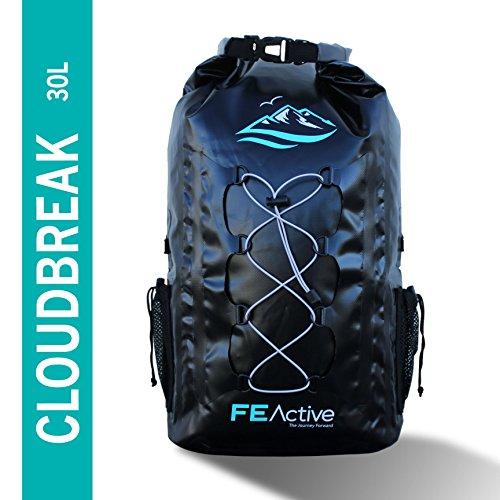 Der FE Active – 30L Eco Friendly Wasserdichte Dry Bag Rucksack ist perfekt geeignet für alle Outdoor Aktivitäten und sonstige Unternehmungen am Wasser. Gepolsterte Schultergurte, Außennetze und Befestigungsschlaufen sorgen für eine größere Tragfähigkeit