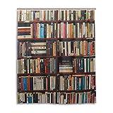 ALAZA Bibliothek Bücherregal Duschvorhang 60 x 72 inch, schimmelresistent und Wasserdicht Polyester Dekoration Badezimmer-Vorhang