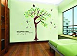 UberLyfe Elegant Wisdom Woman Tree Wall Sticker Size 5 (Wall Covering Area: 230cm x 180cm) - WS-000905