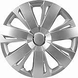 CTE Universal Radzierblende Radkappe Silber 16 Zoll für viele Fahreuge passend