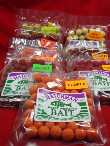 8X-Bags-Carp-Fishing-Bait-Boilies-16MM-Job-Lot-One-Of-Each-Flavours