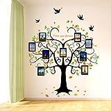 Hihigo Wandtattoo Fotobaum Fotorahmen Stammbaum Baum Wandaufkleber Baum Familienbaum Wandsticker Wall Sticker Wohnzimmer Schlafzimmer Deko