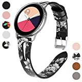 Yayuu Compatible avec 20mm Cuir Bracelet de Montre Samsung Galaxy Watch 42mm Bande en...