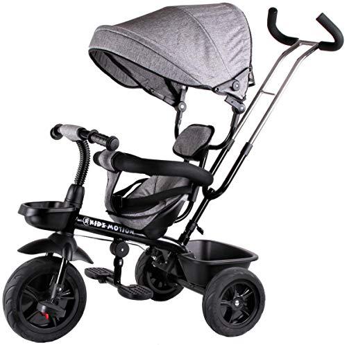 Kidz Motion Dreirad Kinderdreirad Dreirad 4 in 1 Für Kinder Tricycle Mit Gummireifen Von 12 Bis 50 Monaten