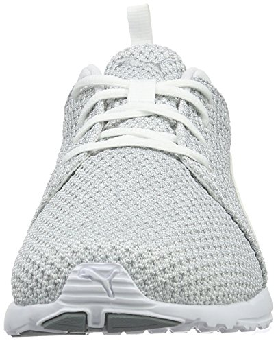 Puma Carson Knitted, Chaussures de Running Compétition Homme Gris (Quarry-puma White 03)